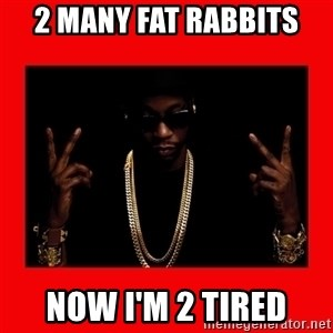 2 chainz valentine - 2 MANY FAT RABBITS NOW I'M 2 TIRED