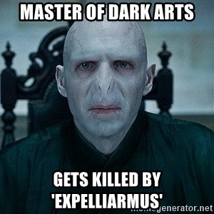 Voldemort - Master of Dark Arts Gets killed by 'Expelliarmus'