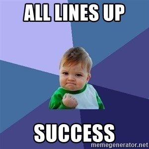 Success Kid - all lines up  success