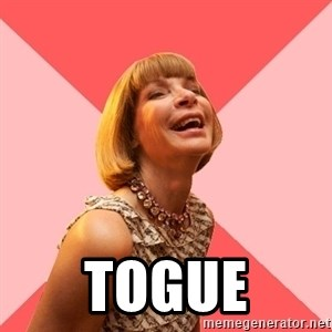 Amused Anna Wintour -  Togue