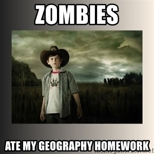 The Walking Dead - zombies ate my geography homework