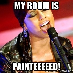 Alicia Keys Sings - My room is painteeeeed!