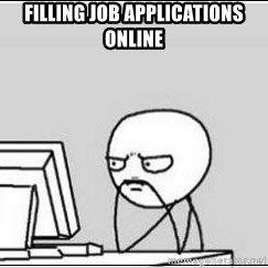 computer guy - Filling job applications online