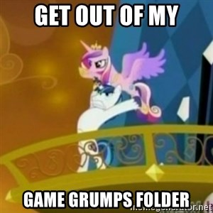 Shining Armor throwing Cadence - Get out of my game grumps folder