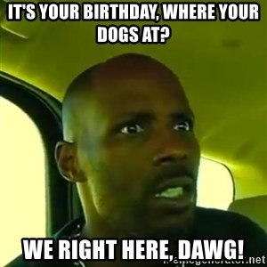 DMX - It's your birthday, where your dogs at? We right here, dawg!