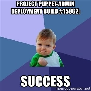 Success Kid - Project puppet-admin deployment build #15862:  SUCCESS