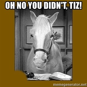 Mr. Ed 2.0 - Oh no you didn't, Tiz!