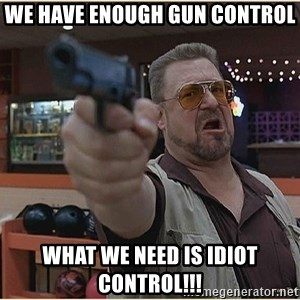 WalterGun - We Have Enough Gun Control What We need is idiot control!!!