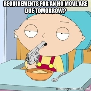 szarkasztikus stewie - Requirements for an HQ move are due Tomorrow?