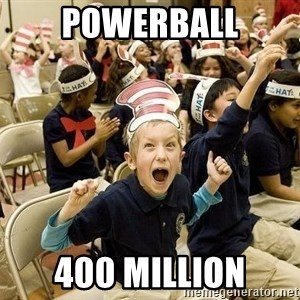 Super Excited Kid - Powerball 400 Million