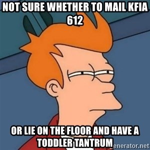 Not sure if troll - not sure whether to mail KFIA 612 or lie on the floor and have a toddler tantrum