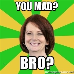 Julia Gillard - YOU MAD? BRO?