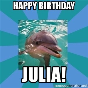Dyscalculic Dolphin - Happy Birthday Julia!