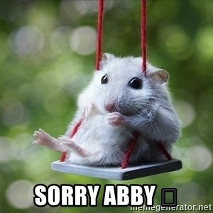 Sorry I'm not Sorry -  Sorry Abby 😔