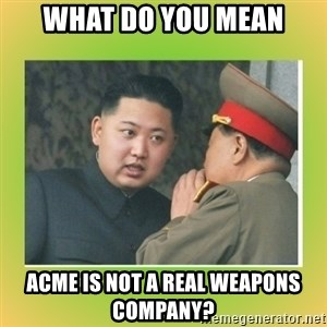 kim joung - What do you mean acme is not a real weapons company?