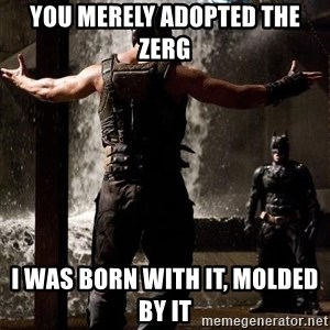 Bane Let the Games Begin - You merely adopted the zerg i was born with it, molded by it