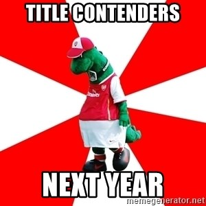 Arsenal Dinosaur - TITLE CONTENDERS next year