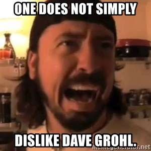Dave Grohl - One does not simply dislike dave grohl.