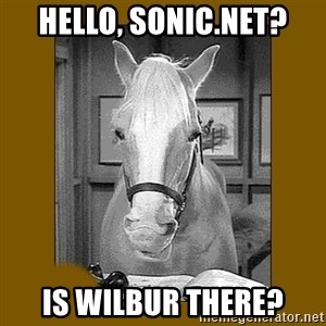 Mr. Ed 2.0 - Hello, Sonic.net? Is wilbur there?