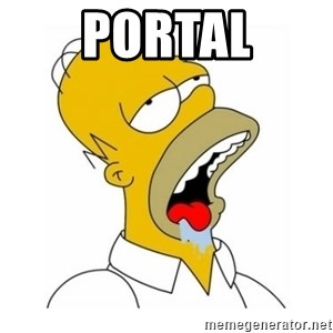 Homer Simpson Drooling - Portal