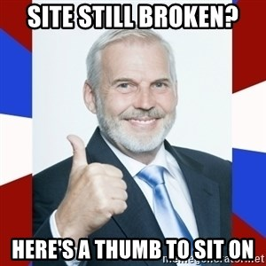 Idiot Anti-Communist Guy - site still broken? here's a thumb to sit on