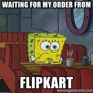 Coffee shop spongebob - waiting for my order from FLIPKART