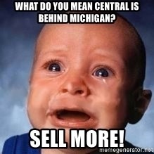 Very Sad Kid - What do you mean Central is behind Michigan? Sell MORE!