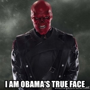 Shutdown Red Skull -  I am Obama's true face