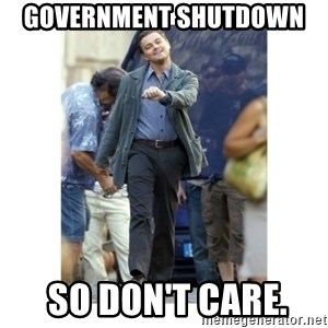 Leonardo DiCaprio Walking - Government shutdown   So don't care.