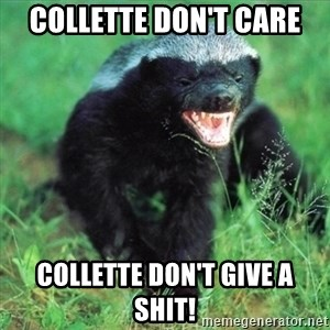 Honey Badger Actual - Collette don't care Collette don't give a shit!