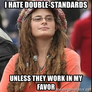 College Liberal - i hate double-standards unless they work in my favor