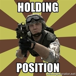 Arma 2 soldier - HOLDING POSITION