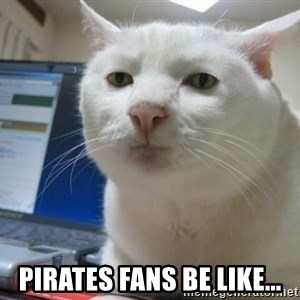 Serious Cat -  Pirates fans be like...