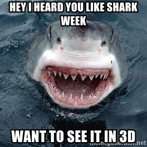Insanity Shark - hey i heard you like shark week want to see it in 3d