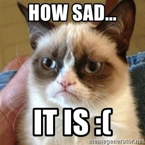 Grumpy Cat  - HOW SAD... IT IS :(