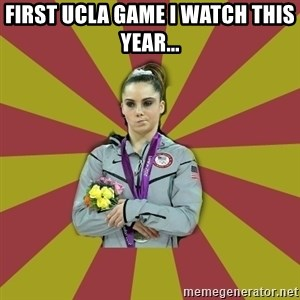 Not Impressed Makayla - First UCLA game I watch this year...