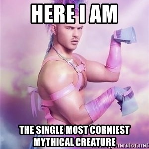 Unicorn Boy - Here I am the single most corniest mythical creature