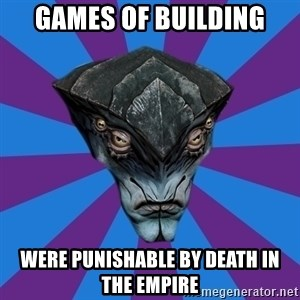 Javik the Prothean - games of building were punishable by death in the empire
