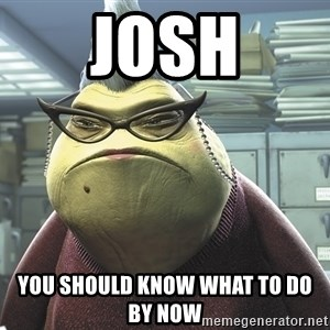 Roz from Monsters Inc - JOSH YOU SHOULD KNOW WHAT TO DO BY NOW