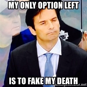 Dallas Eakins - My only option left Is to fake my death