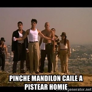 Blood in blood out -  pinche mandilon caile a pistear homie