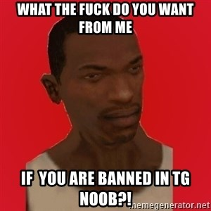 carl johnson - What the fuck do you want from me if  you are banned in tg noob?!