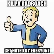 Fallout Meme Boy - Kill A Radroach Get Hated By Everyone