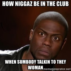 kevin hart nigga - HOW NIGGAZ BE IN THE CLUB WHEN SUMBODY TALKIN TO THEY WOMAN