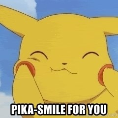 uber happy pikachu -  Pika-Smile for you