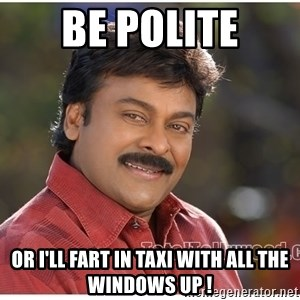 Typical Indian guy - Be polite Or i'll fart in taxi with all the windows up !