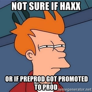 Futurama Fry - not sure if haxx  or if preprod got promoted to prod