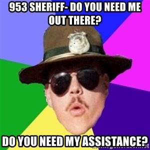 Farva - 953 Sheriff- Do you need me out there? Do you need my assistance?