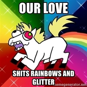 Lovely Derpy RP Unicorn - Our love Shits rainbows and glitter