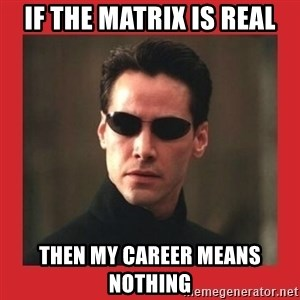 Neo Matrix - if the matrix is real then my career means nothing